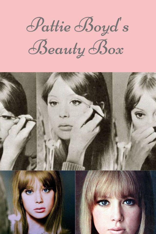 Pattie Boyd's Beauty Box, Pattie Boyd, Pattie Boyd Makeup Tutorial, Pattie Boyd Eye makeup tutorial, 1960s makeup tutorial