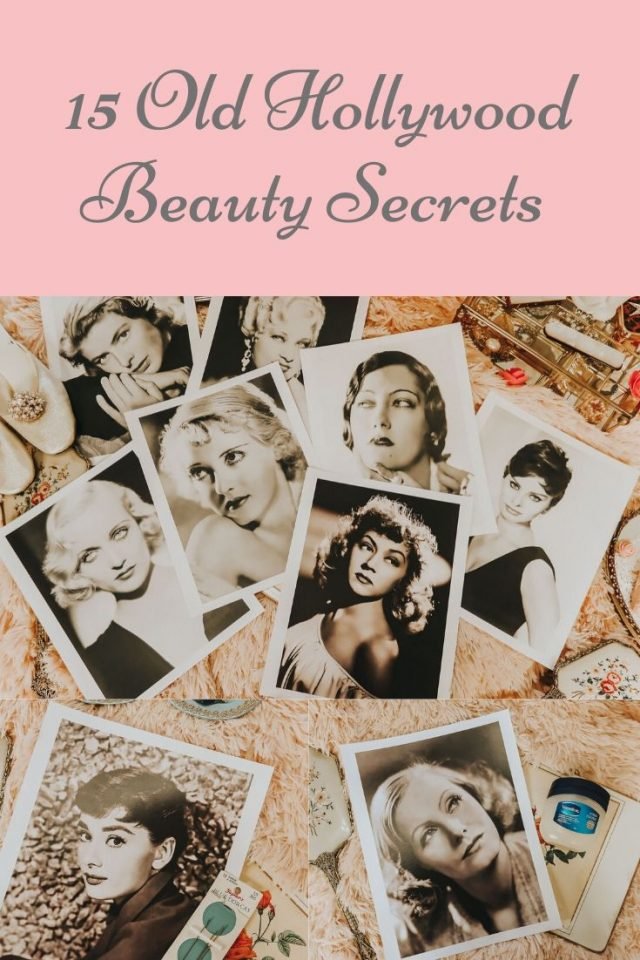 old Hollywood beauty tips, vintage beauty tips, old Hollywood beauty secrets, Marilyn Monroe Beauty secrets