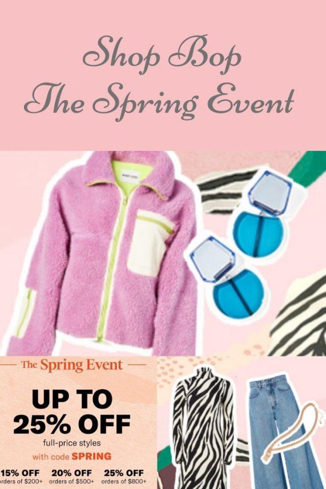 shop bop spring sale