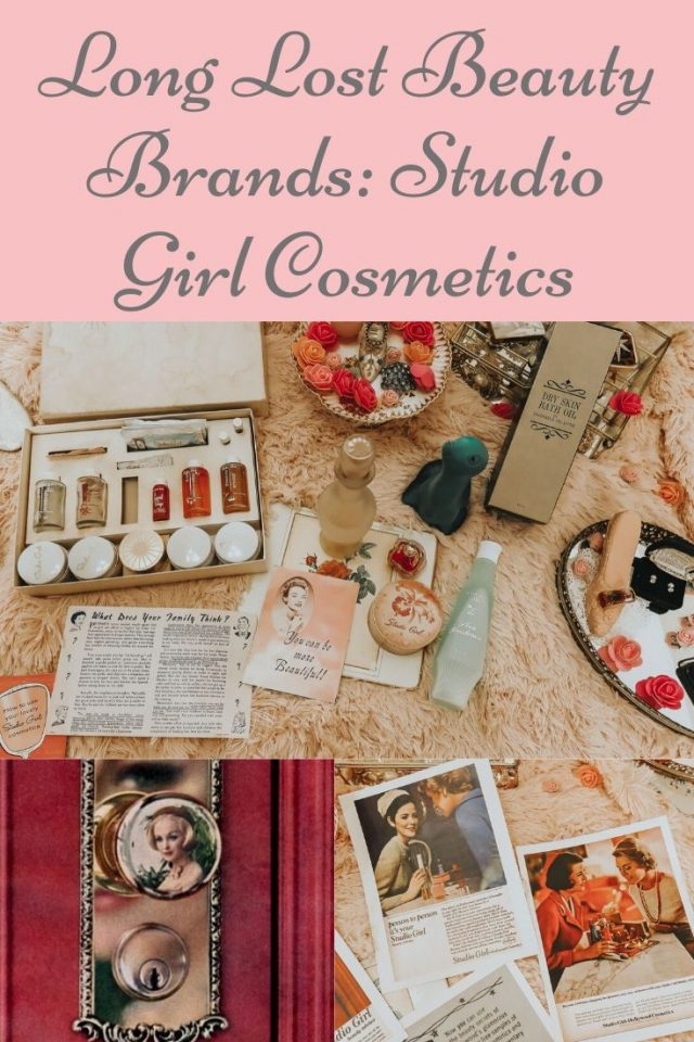 long lost beauty brands, vintage beauty brands, vintage makeup, studio girl cosmetics, popular 1950s makeup brands, 1950s makeup, 1960s makeup, vintage makeup, vintage cosmetics, vintage beauty products