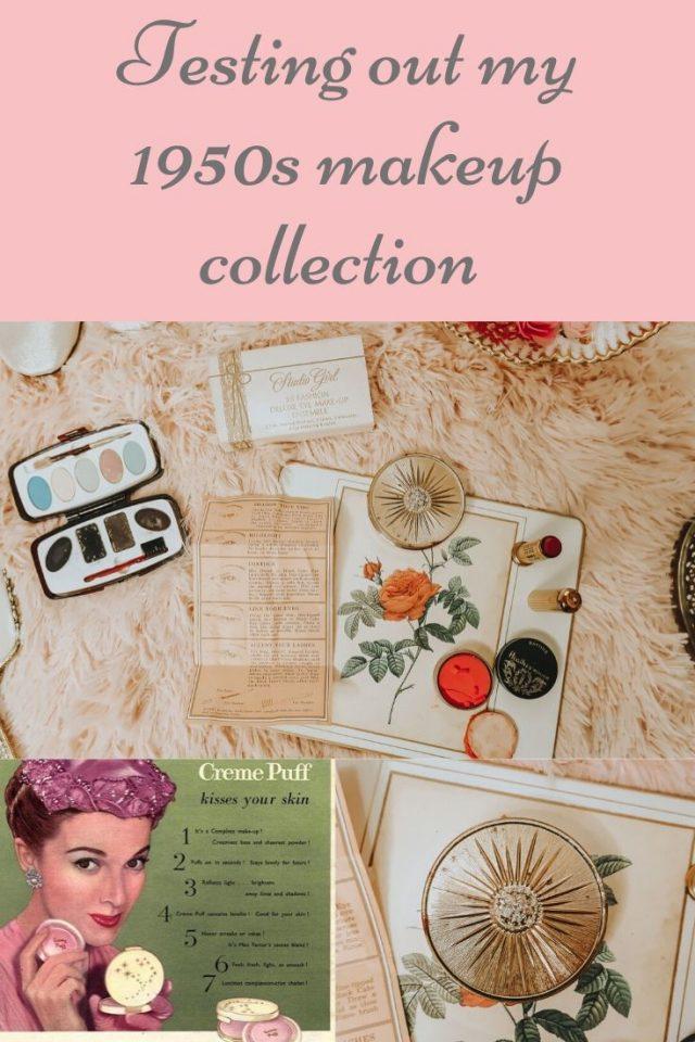 vintage 1950s makeup, vintage dead-stock, vintage makeup collection, vintage cosmetics, 1950s makeup,