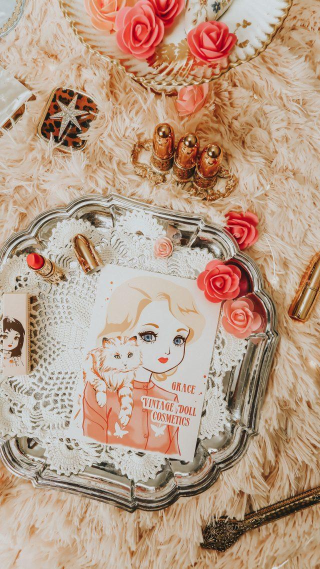 Vintage Doll Cosmetics, Vintage Inspired lipstick shades, vintage inspired makeup, Vintage lipstick, Sharon Tate lipstick, Audrey Hepburn lipstick, Holy Golightly lipstick, breakfast at Tiffanys lipstick, Marilyn Monroe lipstick, Marilyn Monroe makeup, Elizabeth Taylor, Elizabeth Taylor lipstick, Grace Kelly, Grace Kelly lipstick