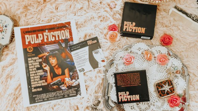 Mia Wallace's Favorite Beauty Products from Pulp Fiction, Mia Wallace Lipstick, Mia Wallace nail polish, Mia Wallace Makeup, Mia Wallace Perfume, Mia Wallace Urban DEcay, Pulp Fiction Urban DEcay