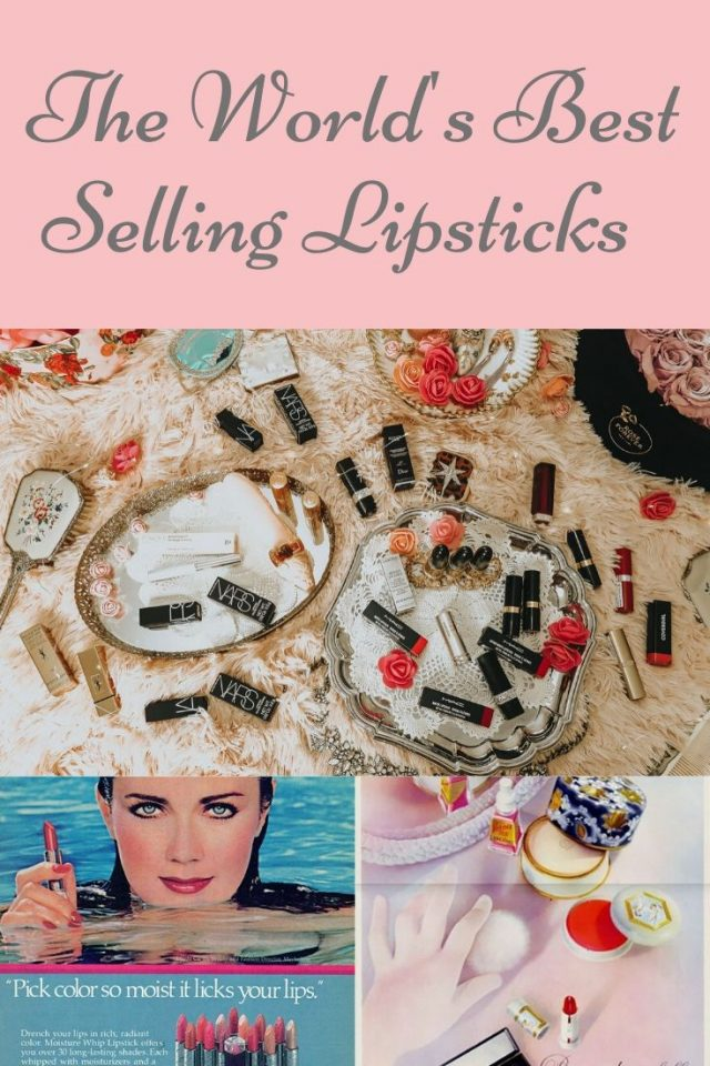 The worlds best selling lipsticks, the best selling lipsticks of all time, vintage lipsticks you can still buy today, vintage lipstick colors, Nars lipstick, Mac lipstick, Tilbury lipstick, Drugstore lipstick dupes, Audrey Hepburn lipstick