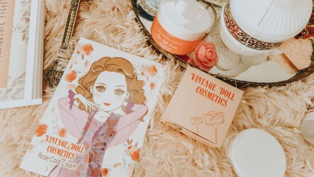 1950s beauty routine, 1950s skincare routine, 1950s facial, diy at home 1950s facial, diy at home facial, vintage doll cosmetics, rose cold cream cleanser, vintage cold cream, cold cream cleanser