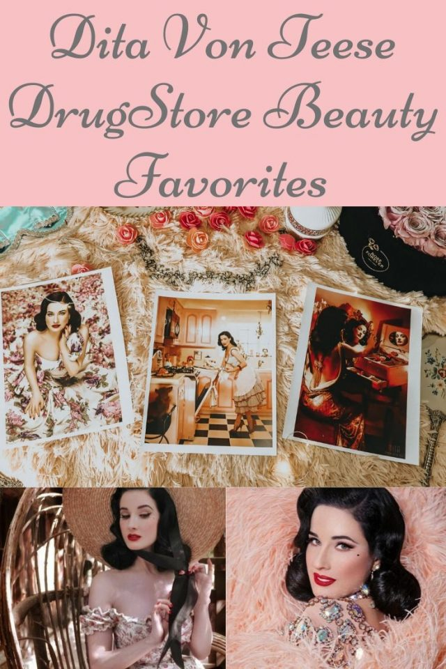 Dita Von Teese, Dita Von Teese favorite drugstore beauty products, Dita Von Tease Favorite beauty products, Dita Von Teese Beauty routine