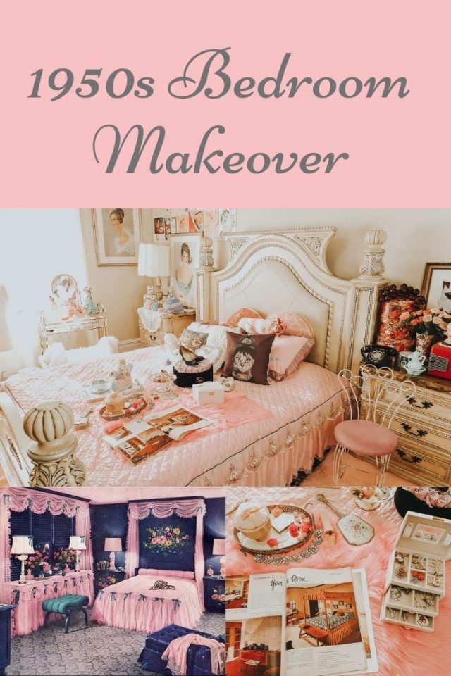 1950s bedroom makeover, 1950s bedroom decor, 1950s pink bedroom, 1950s decor, pink 1950s decor, wish haul, wish decor