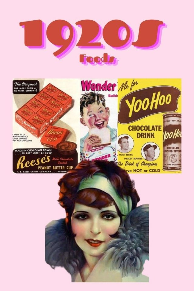 1920s foods you can still buy today, popular 1920s foods, 1920s snacks, what did people eat in the 1920s