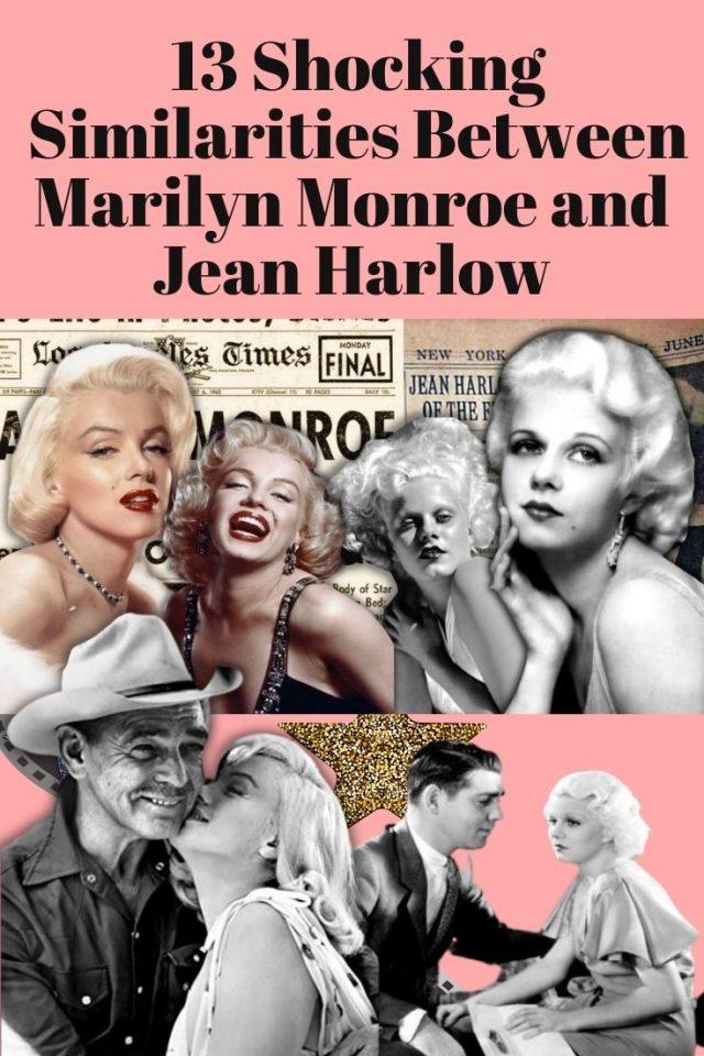 13 shocking Similarities between Marilyn Monroe and Jean Harlow, Marlyn Monroe and Jean Harlow