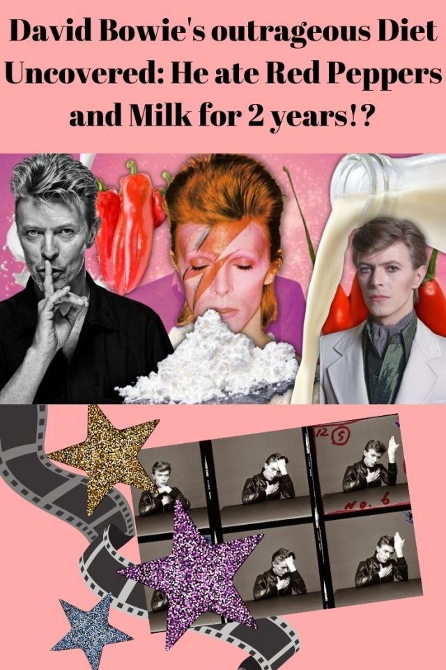 David Bowie's outrageous Diet Uncovered: He ate Red Peppers and Milk for 2 years!?
