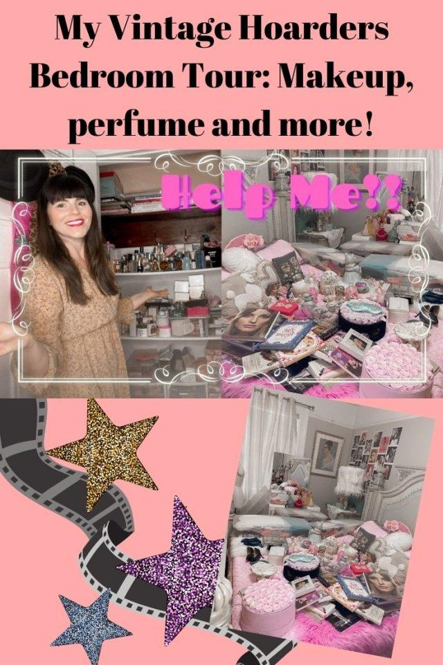 vintage hoarders room, vintage bedroom tour, vintage makeup collection,