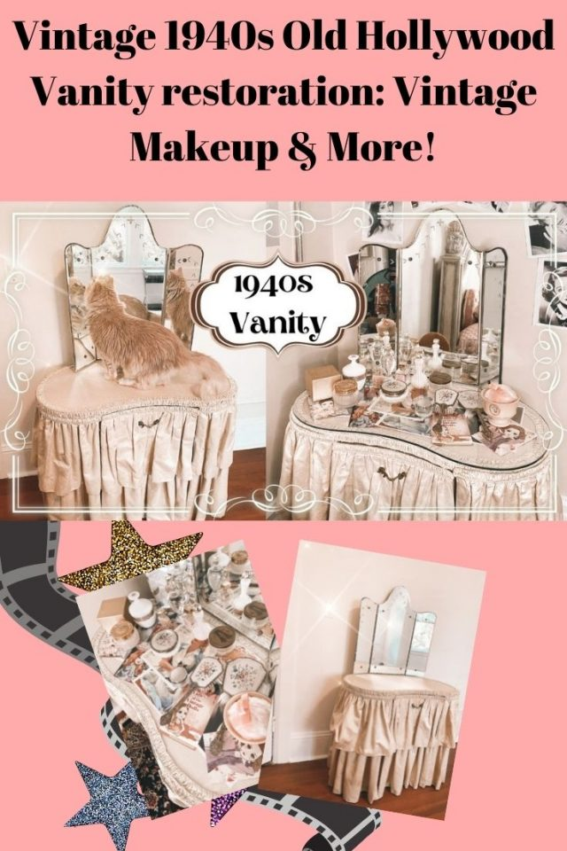 Vintage 1940s Old Hollywood Vanity restoration: Vintage Makeup & More!
