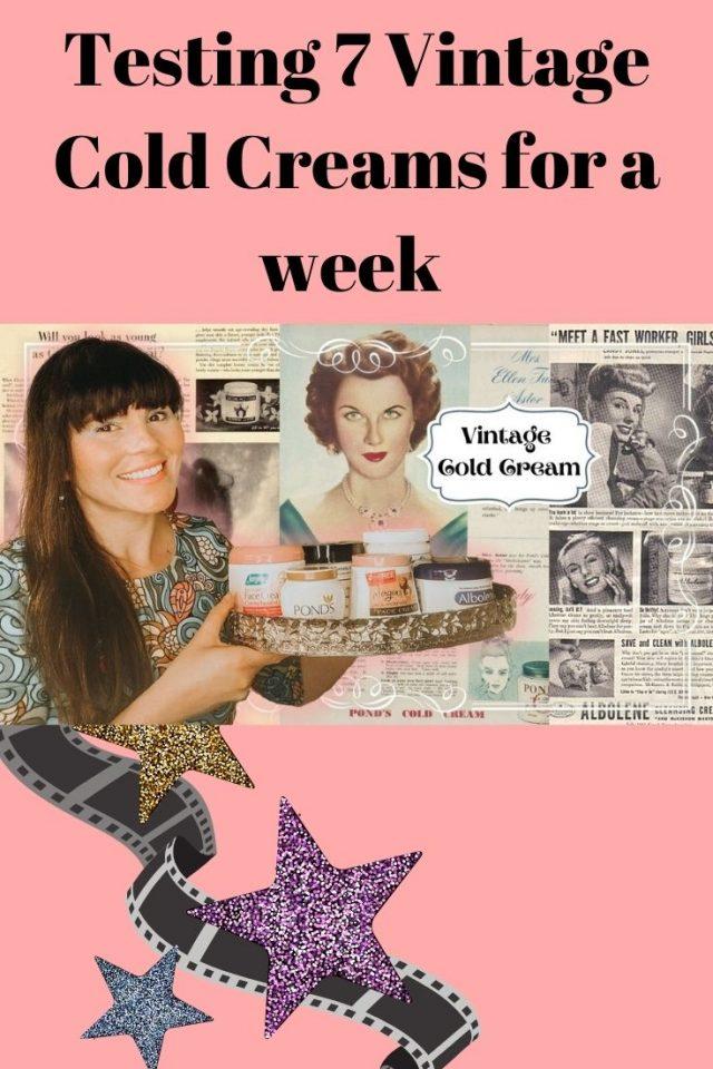 I tried 7 vintage cold creams for a week, vintage cold creams, vintage skincare, vintage beauty routine